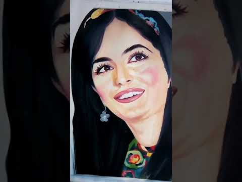 Katrina kaif face painting oil tube colors