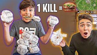 Mein KLEINER BRUDER bekommt 1 Hamburger für JEDEN KILL! (FORTNITE BATTLE ROYALE)