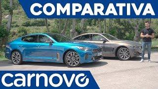 Kia Stinger vs BMW Serie 4 Gran Coupé - Comparativa / Review / Prueba / Test en español | Carnovo