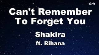 Download lagu Can t Remember to Forget You ft Rihanna Shakira Karaoke With Guide Melody Instrumental MP3