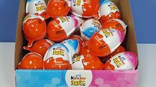 Sürpriz Oyuncaklarla Dolu Kinder Joy Kızlara ve Erkeklere Özel Sürpriz Yumurtalar Açıyoruz