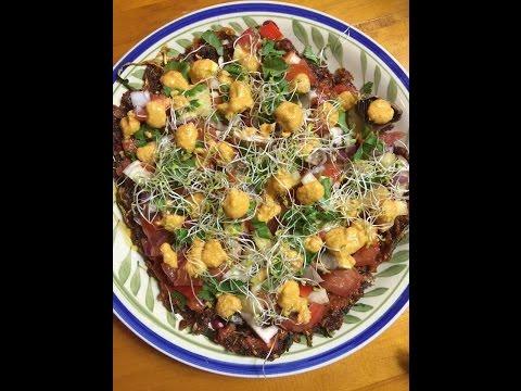 High Carb Fully Raw Vegan PIZZA (8010100