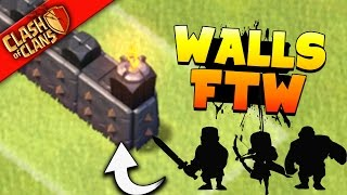 """Clash of Clans: """"MILLIONS OF LOOT? WALL TIME BUDDIES!"""" FARMING FOR LVL 9"""