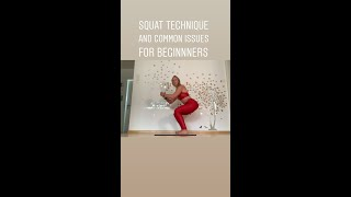Squat technique for beginners common errors and fixes