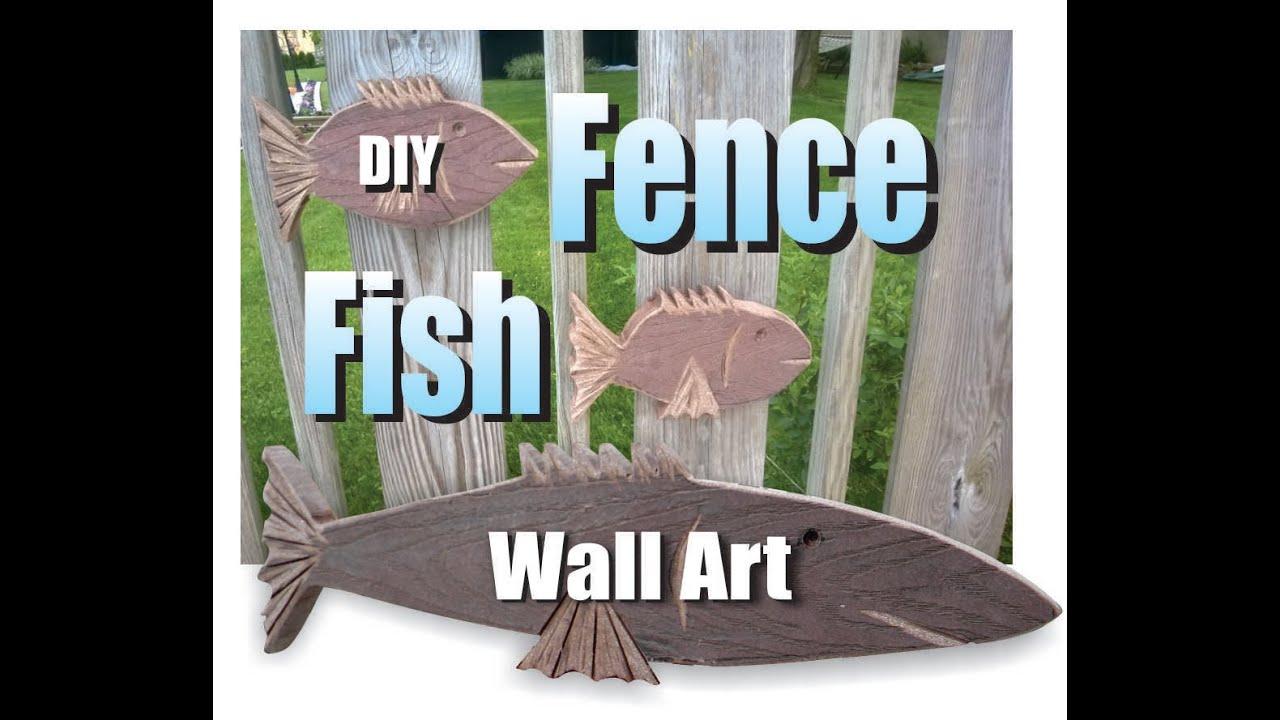 DIY Nautical Fish Outdoor Wall Art