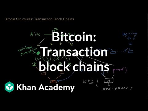 Bitcoin - Transaction block chains