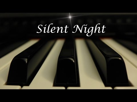 Silent Night - Christmas Hymn on Piano with lyrics