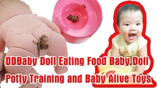 DDBaby Doll Eating Food Baby Doll Potty Training and Baby Alive Toys
