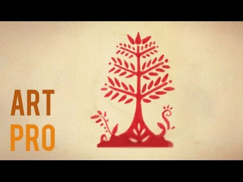 How To Draw An Easy Tree Folk Art Style