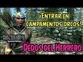 Skyrim SE -Dedos del Herrero- Entrar en campamentos orcos!