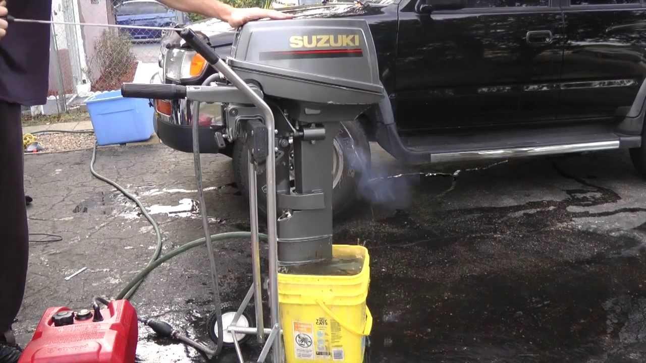 suzuki 9.9hp 2 stroke tiller outboard motor oil injection - youtube