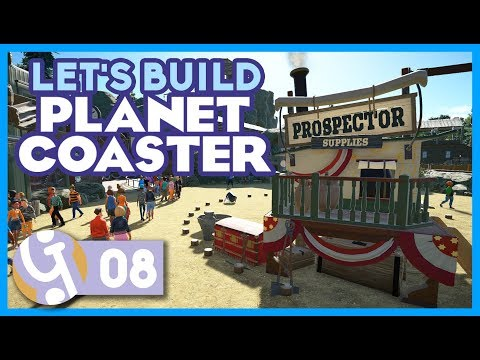 🌵 Wild West Themed Area | Let's Build Planet Coaster #08
