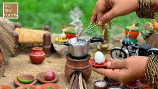Miniature Egg Biryani In Pressure Cooker   Egg Biryani Recipe   Miniature Cooking   Anda Biryani