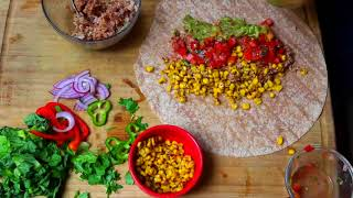 vegetarian burrito wrap recipe - vegan food recipes tasty - quick dinner recipes