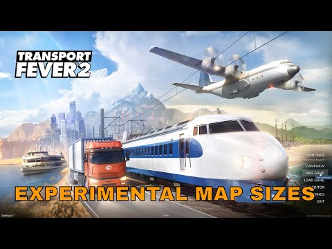 Transport Fever 2 - Setting up a Experimental Map Sizes Tutorial thumbnail
