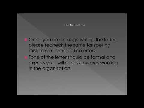 How to write joining letter for new job requesting your