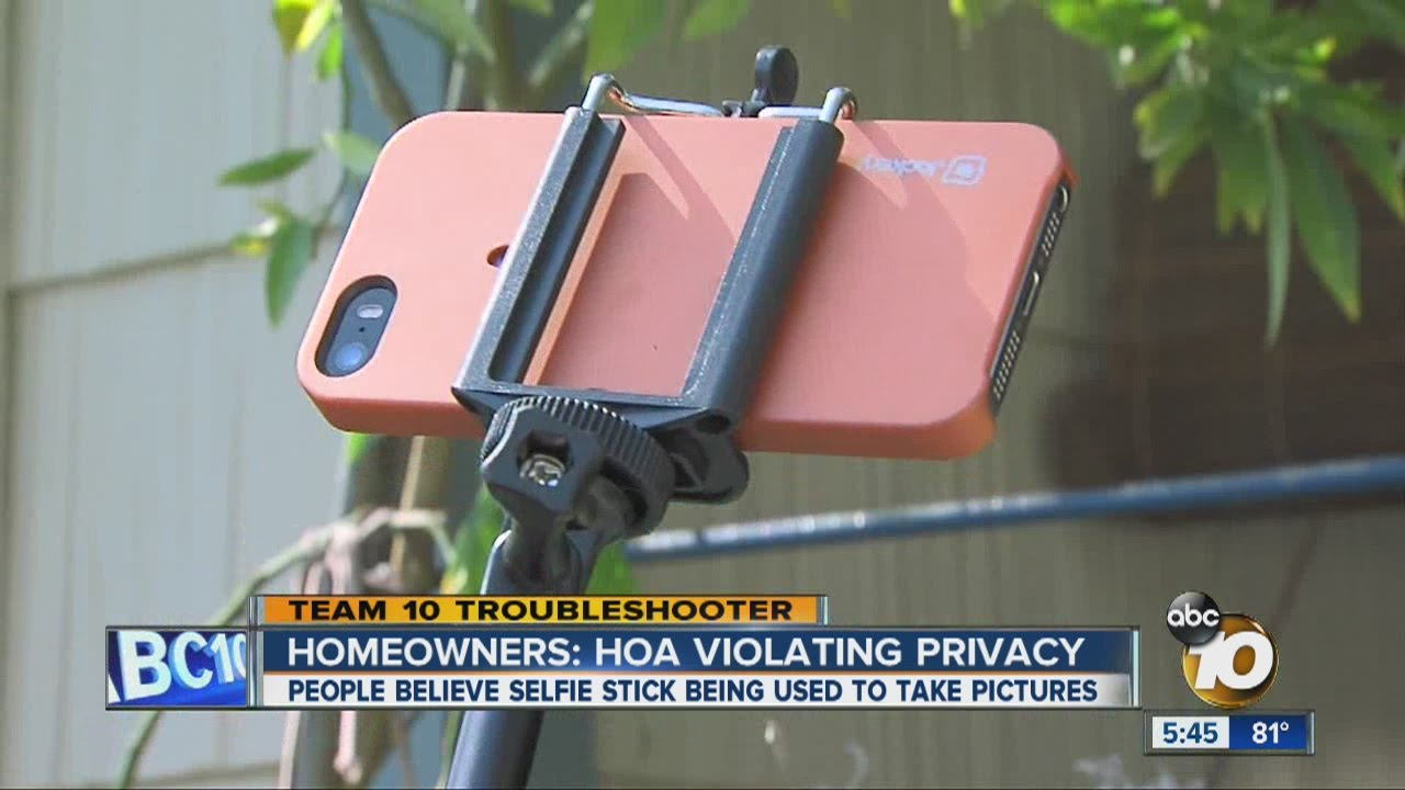 Homeowners say HOA crossing the line selfie stick