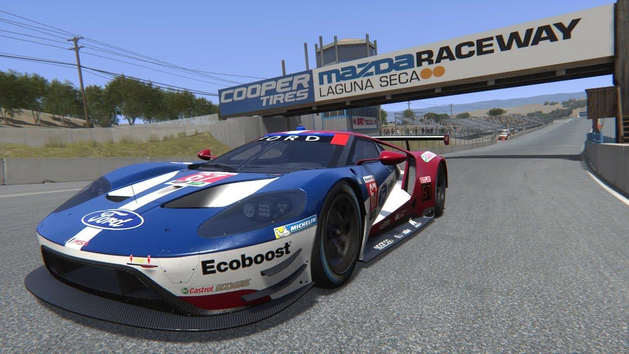 Assetto Corsa  Ford Gt Imsa Gtlm Laguna Seca Raceway