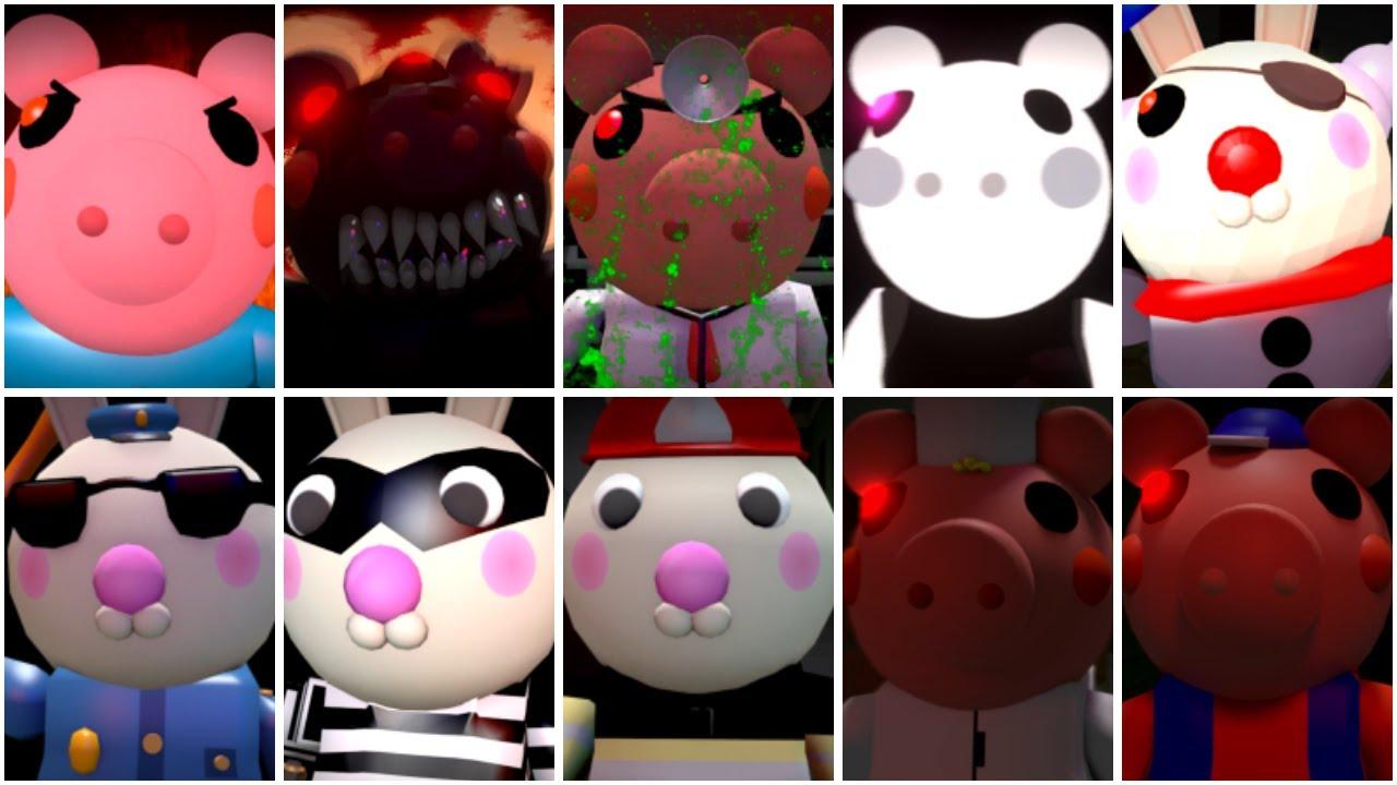 10 ROBLOX PIGGY JUMPSCARES - Roblox Piggy Animation