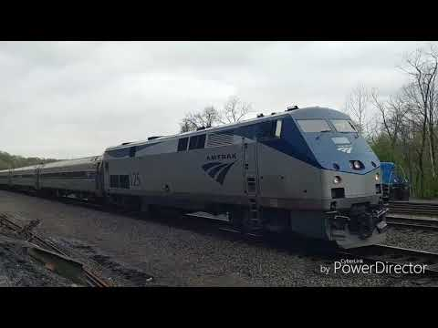 Tyrone PA Action with Nittany and Bald Eagle Amtrak and NS