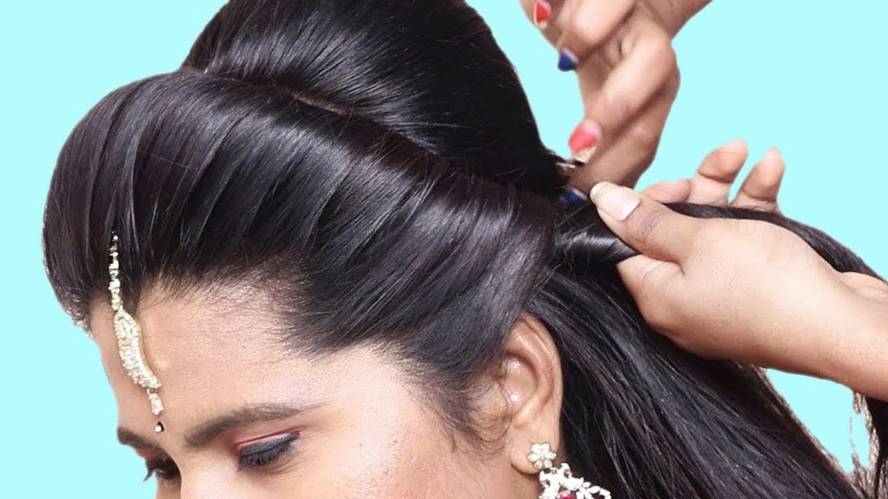 4 Beautiful Party Wear Hairstyle For Medium Hair 2019 Quick Easy Part Hairstyle For Girls 2019 Youtube