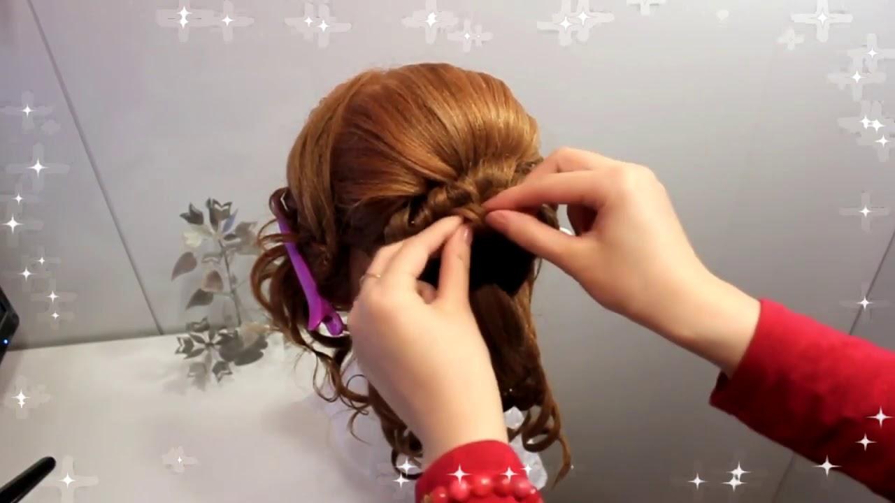 Прически в школу – коса водопад (красивая прическа) воздушный пучок из жгутов