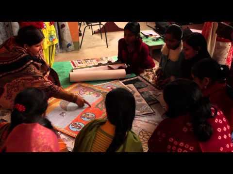 Scenes from the Mithila Art Institute (India)