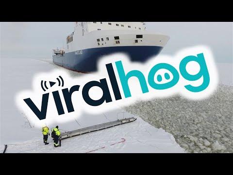 Pilot Steps onto Moving Ship || ViralHog