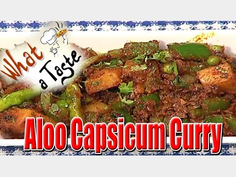 how to make aloo capsicum curry