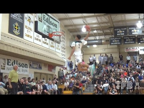 UCLA's Lonzo Ball NASTY DUNK off the BACK WALL!