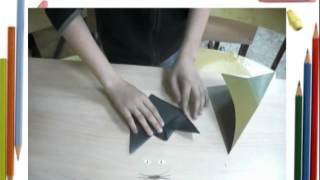 урок оригами как сделать кота , делаем кота оригами Кот