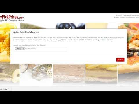 Sysco Foods Price List - YouTube
