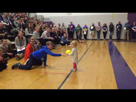 Kyle Rudolph at Waconia Middle School