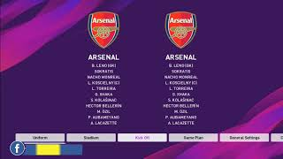 OVERALL RATING OF ARSENAL PLAYERS AT PES 2020