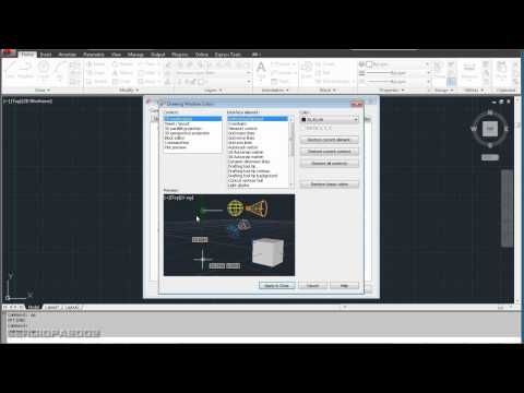 How to change the background color in Autodesk's AutoCAD drawing software