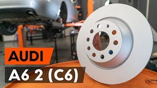 Hvordan bytte bak bremseskiver der på AUDI A6 2 (C6) [AUTODOC-VIDEOLEKSJONER]