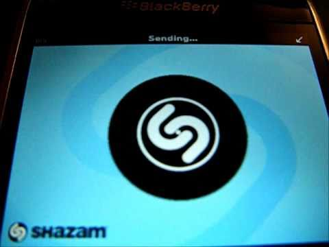 Blackberry App Review - Shazam 01 - Tagging, More Info, Share tag
