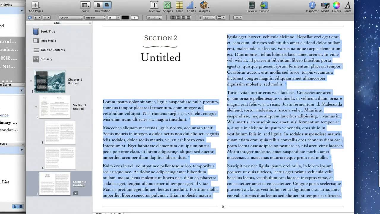 iBooks Author - Styles and templates - YouTube