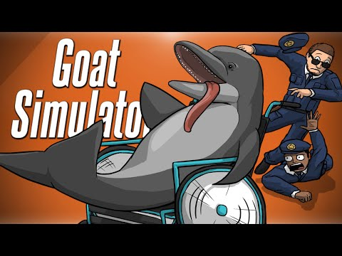 DOLPHIN IN A WHEELCHAIR!?! - Goat Simulator PayDay DLC |