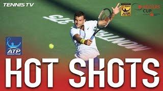 Hot Shot: Dimitrov Nails Sensational No Look Overhead Shot Montreal 2017