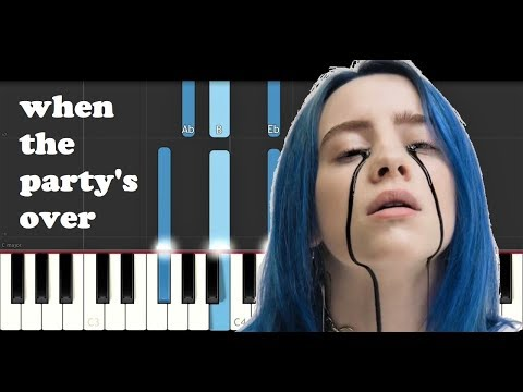 Billie Eilish - When The Party&39;s Over Piano Tutorial