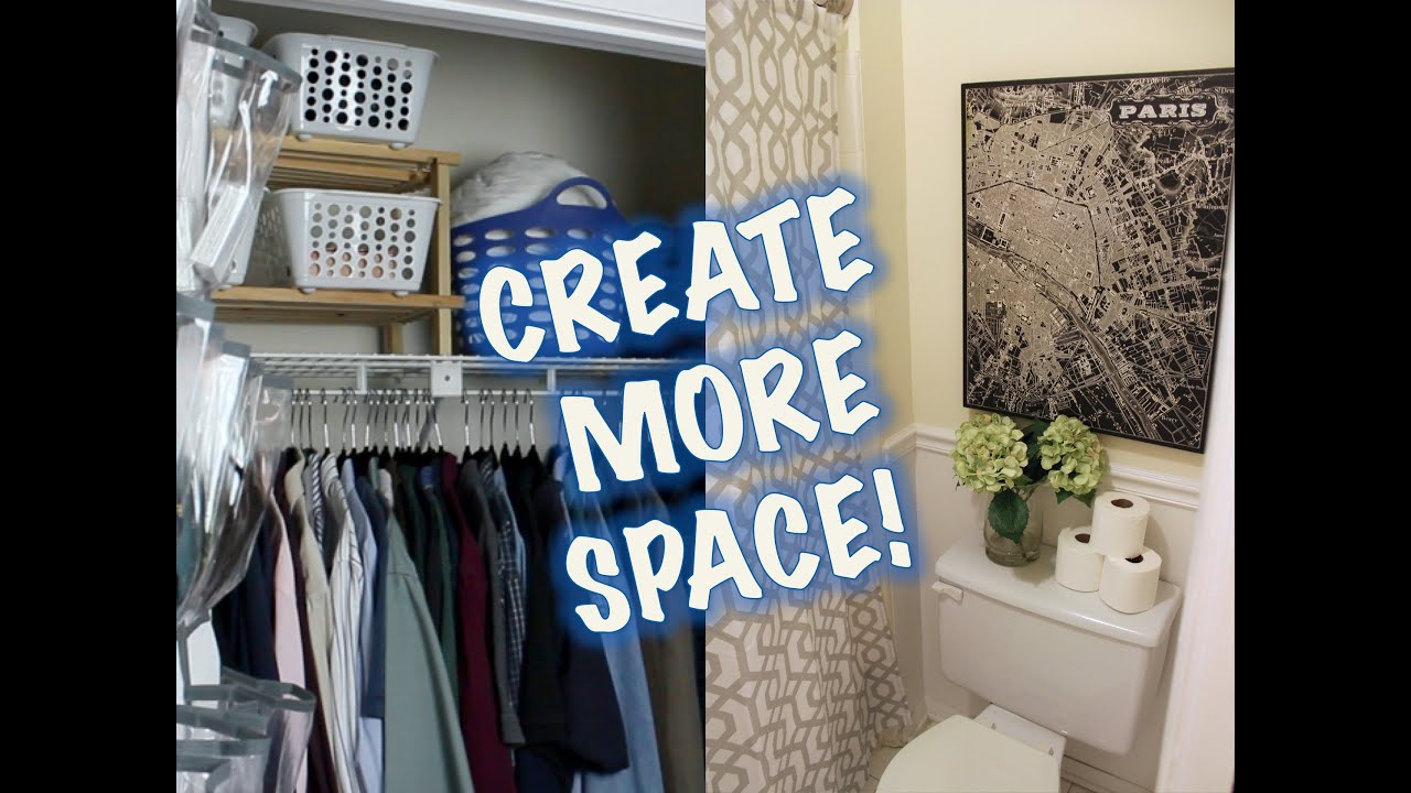 Space Saving Ideas Closet Bathroom Makeover Youtube