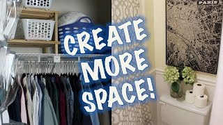 Space-saving Ideas | Closet & Bathroom Makeover