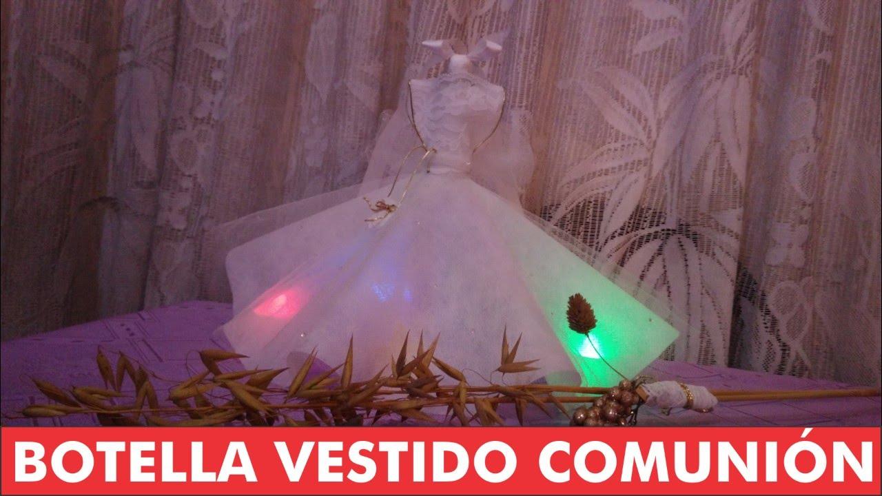 Centro de mesa botella vestido comuni n youtube - Centros de mesa con botellas ...