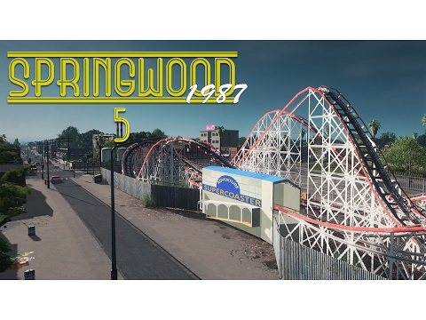 Cities Skylines: Springwood - Amusement Park, Govt Housing, Boardwalk (Ep5)