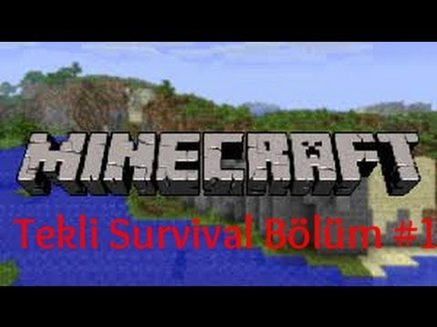 BurakLa Minecraft Tekli Survival - #1 - Ev Yaptık :)