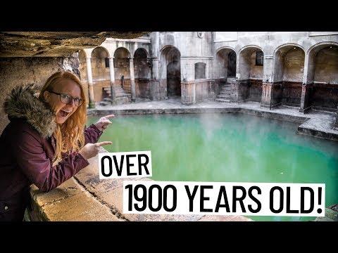 Exploring EPIC ROMAN BATH RUINS! (Bath, England)