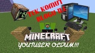Minecraft - Tek Komut Bloğu İle Neler Yapabilirim ? - Youtuber Oldum ! (#1)