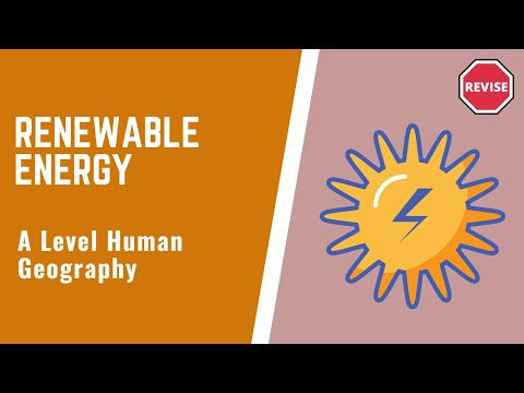 As Human Geography - Renewable Energy
