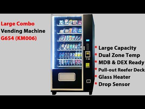 KM006 (KMV-G654) - Large Combo Snack&Drink Vending Machine